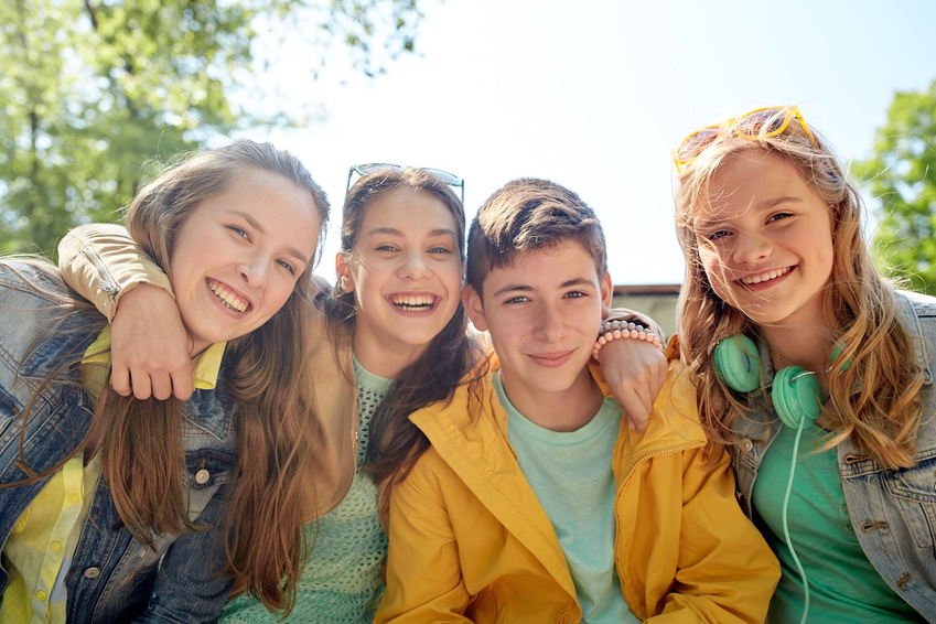 Teenager lachen